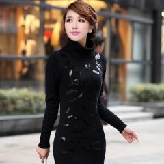 瑅艾女士尊贵黑色针织衫 DK04962