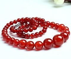琳福珠宝  玉见钟情5A级红玛瑙项链