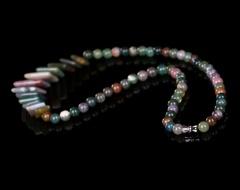 琳福珠宝  五彩玛瑙天然玛瑙女式项链 短款毛衣链