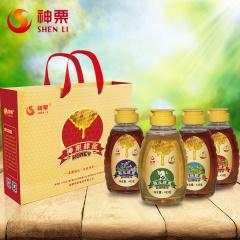 神栗 蜂蜜礼盒1732g 洋槐椴树枣花荆花蜂蜜(433g*4瓶)节日送礼