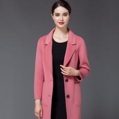 丁摩新款羊毛大衣毛呢外套021