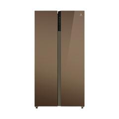 伊莱克斯(Electrolux) 520升大容量 钢化玻璃面板 对开门家用电冰箱 浪漫咖