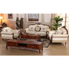 富阁欧式奢华实木客厅系列套组 货号121102