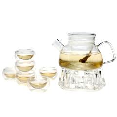 金镶玉 玻璃茶具套组 南岛时光套装 耐热防爆水具功夫茶具
