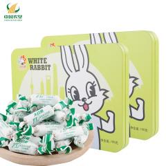 【中国农垦】冠生园 大白兔 抹茶味奶糖 铁听卡通兔系列 零食小吃休闲食品 160gx2盒