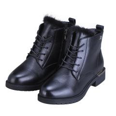 法国梦特娇水貂毛时尚女靴