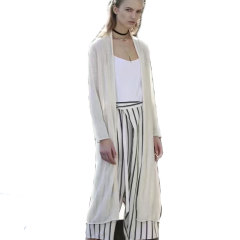 丁摩 时尚条纹宽腿裤1330
