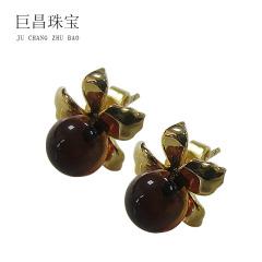 金枝玉叶系列蓝珀耳钉