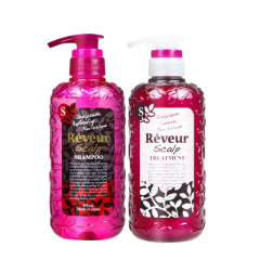 reveur日本进口无硅油洗发水温和控油去屑保湿滋润洗发护发套装(粉瓶)
