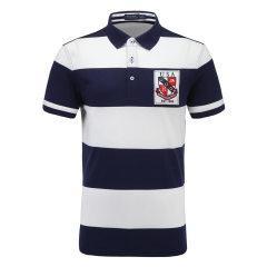 皇家棕榈马球俱乐部 男短袖条纹休闲POLO衫翻领男士T恤13528118