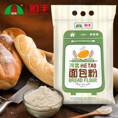 河套面包粉 高筋面粉烤箱面包机粉 披萨粉烘焙原料4kg