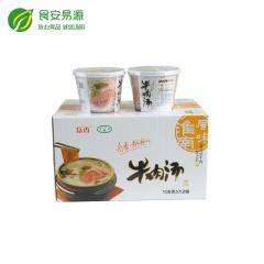 淮南风味牛肉汤 方便速食桶装粉丝108g×12桶箱装 清真食品