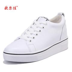 欧尔佳高档牛皮小白鞋小黑鞋J1701-6