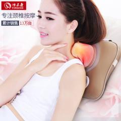 怡禾康 按摩枕电动颈椎按摩器背部腰部按摩垫按摩仪按摩器 YH-999