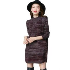 丁摩 SSYAOGE 羊毛中长款宽松打底毛衣裙9732