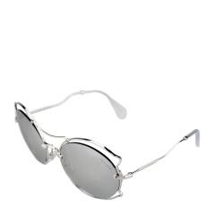 MiuMiu/缪缪 女士银色全金属镜框镜架太阳镜 50SS 1BC2B0 57