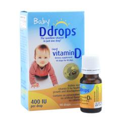 海外直邮/Ddrops 婴儿维生素D3滴剂 400IU 90滴瓶/包邮包税