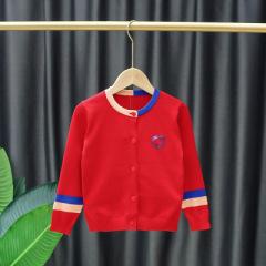 新款童装外套全棉百搭开衫女童开衫毛衣春秋款儿童针织开衫