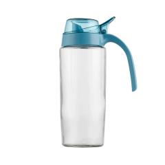 SIMELO施美乐首尔风情防漏玻璃油壶油醋瓶 炫彩款600ml蓝色