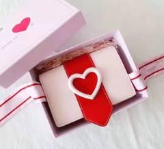 小CK七夕限量版爱心小方包臻心礼盒原版包装  情人节粉色爱心包配千鸟格丝巾 女神必备礼物