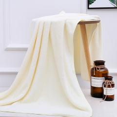 斜月三星 珊瑚绒成人男女毛巾大浴巾 家用毛巾