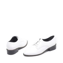 达芙妮(DAPHNE)系带羊皮简约时尚低跟粗跟女鞋1016404113