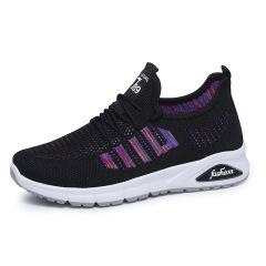 2020女鞋夏季新款透气网面休闲鞋舒适软底妈妈鞋时尚系带运动鞋