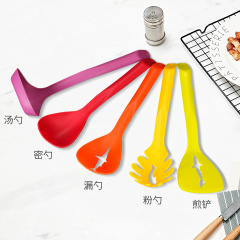 SIRONI斯罗尼炫彩铲勺五件套尼龙勺子厨房小工具耐用炊具