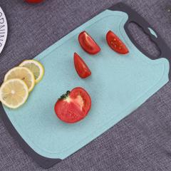 鼎匠小麦秸秆抗菌菜板两件套婴儿宝宝辅食菜板 厨房家用菜板套装(双色)
