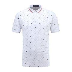 男士短袖商务休闲印花POLO衫翻领男士T恤13712109