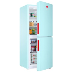 统帅(Leader) 家用小型冰箱双门风冷无霜时尚复古保鲜冷藏电冰箱 BCD-150WLDPEI