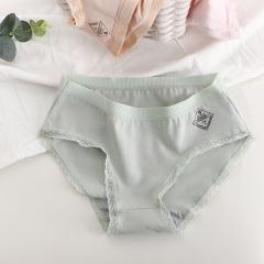 【四条盒装】新款精梳纯棉三角裤 女士内裤 蕾丝少女舒适包臀版内裤