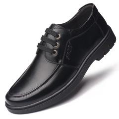 秋季新款男鞋头层牛皮系带商务皮鞋男士休闲时尚单鞋