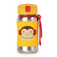 Skip Hop 可爱动物园儿童不锈钢吸管杯350ml