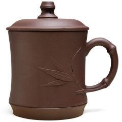 金镶玉 宜兴紫砂杯 竹韵泡茶杯 大容量原矿手工水杯茶具办公杯