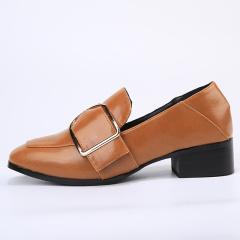 欧尔佳2017卡扣方跟女单鞋J8851-8