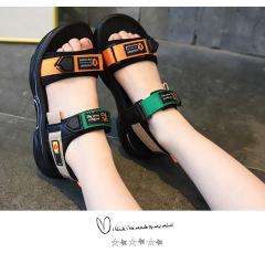 男童沙滩鞋2020夏季新款儿童凉鞋软底女童字母鞋子小男孩运动凉鞋